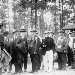 """""""Alien Enemies"""" Standing in Line during a Transfer from Fort McPherson to Fort Oglethorpe, ca. 1918"""