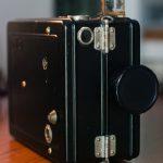 """DeVry Corporation """"Model A"""" camera,  exterior view"""