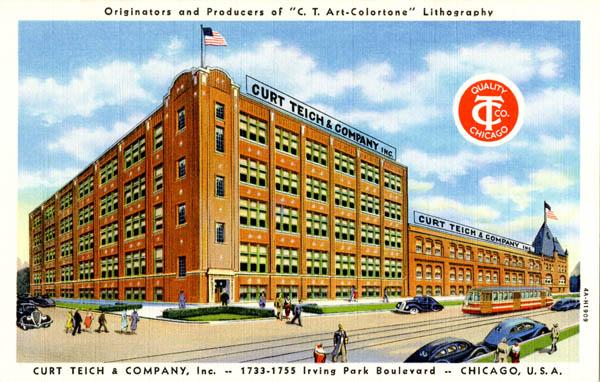 Curt Teich & Company, Inc., 1733-1755 Irving Park Boulevard, Chicago, USA, 1934