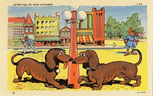 Curt Teich & Company, Inc., After You, My Dear Alphonse, 1935