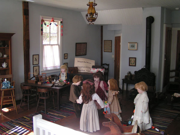 Diorama reconstruction of the Schurz kindergarten, Watertown, Wisconsin