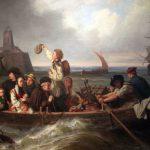 Abschied der Auswanderer (emigrants' farewell), painting by Antoine Volkmar, 1860