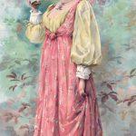 Hostess from Anheuser-Busch advertisement, ca. 1892